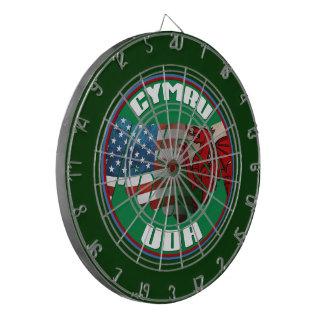 Welsh American USA Wales Dartboard