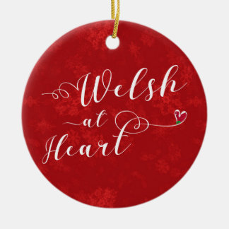 Welsh At Heart, Christmas Tree Ornament, Wales Christmas Ornament