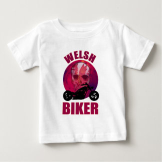 Welsh Biker Skull Chop Baby T-Shirt