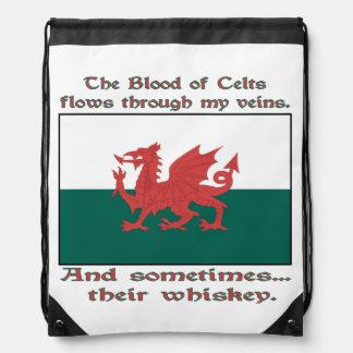 Welsh Blood and Whiskey Drawstring Bag