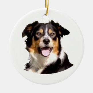 Welsh Border Collie Christmas Ornament