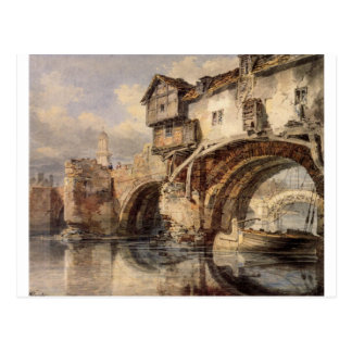 Welsh Bridge at Shrewsbury by William Turner Postcard