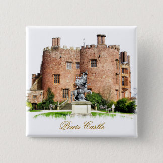WELSH CASTLES 15 CM SQUARE BADGE