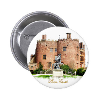 WELSH CASTLES 6 CM ROUND BADGE