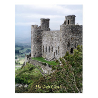 WELSH CASTLES POSTCARD