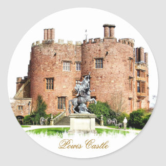 WELSH CASTLES ROUND STICKERS