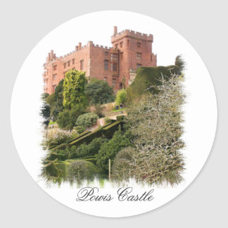 WELSH CASTLES CLASSIC ROUND STICKER