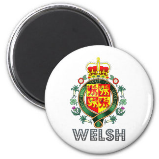 Welsh Coat of Arms 6 Cm Round Magnet