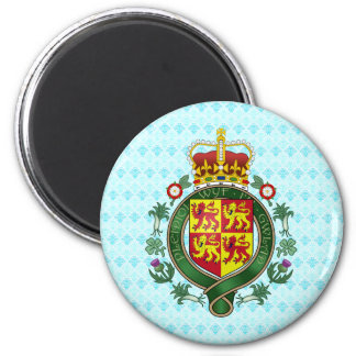 Welsh Coat of Arms detail 6 Cm Round Magnet