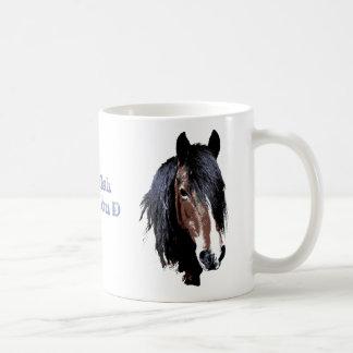 Welsh cob portrait basic white mug