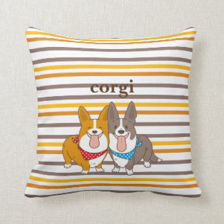 welsh corgi border cushion