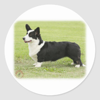 Welsh Corgi Cardigan 9Y501D-007 Classic Round Sticker