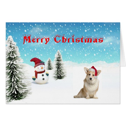 Welsh Corgi (cardigan) Christmas Card