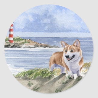 Welsh Corgi Classic Round Sticker