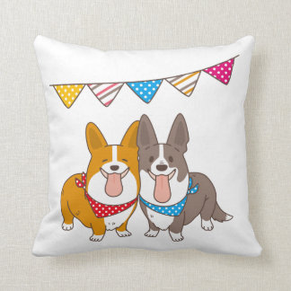 welsh corgi cushion