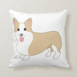 Welsh Corgi Dog Illustration Cushion