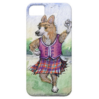 Welsh Corgi dog Scottish dancing iPhone 5 Case