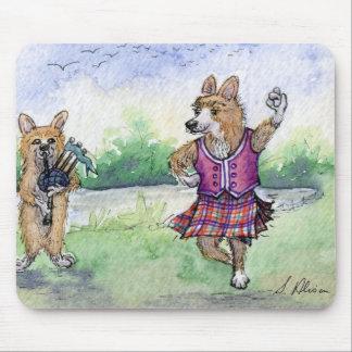 Welsh Corgi dog Scottish dancing Mouse Pad