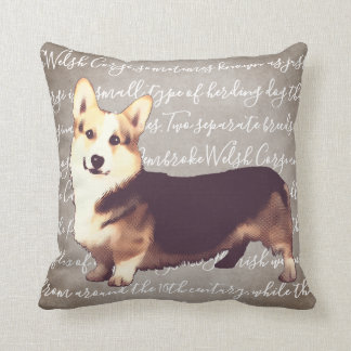 Welsh Corgi Illustration Pillow