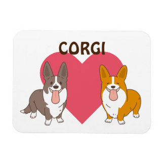 welsh corgi magnet