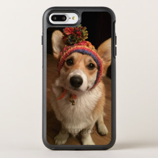 Welsh Corgi Pembroke Wearing A Hand Knitted Hat OtterBox Symmetry iPhone 8 Plus/7 Plus Case