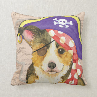 Welsh Corgi Pirate Cushion