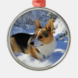 Welsh Corgi Snow Day Christmas Ornament