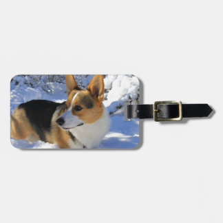 Welsh Corgi Snow Day Luggage Tag
