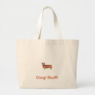 Welsh Corgi Tote Bags