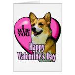 Welsh Corgi Valentine's Day Gifts Greeting Card