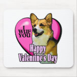 Welsh Corgi Valentine's Day Gifts Mouse Mat