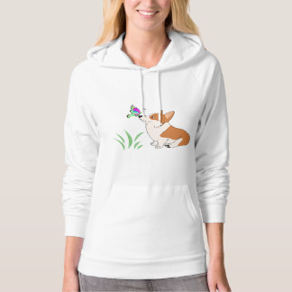 Welsh Corgi with Butterfly Hoodie