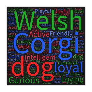 Welsh Corgi Word Cloud Canvas Print