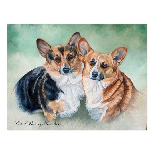 WELSH CORGIES POSTCARD
