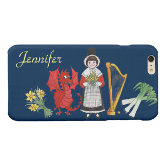 Welsh Costume and Emblems, Blue iPhone 6 Plus Case