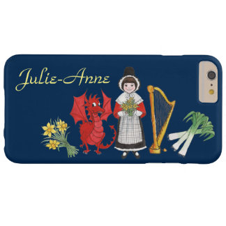 Welsh Costume and Emblems Blue iPhone 6 Plus Case
