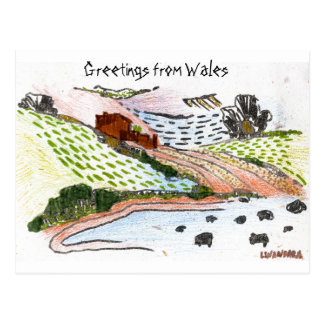 Welsh Countryside Postcard