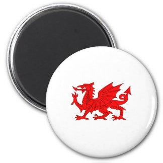 Welsh Dragon 6 Cm Round Magnet