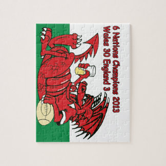 Welsh Dragon, 6 Nations Champions, Wales v England Jigsaw Puzzle