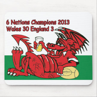 Welsh Dragon, 6 Nations Champions, Wales v England Mouse Mat