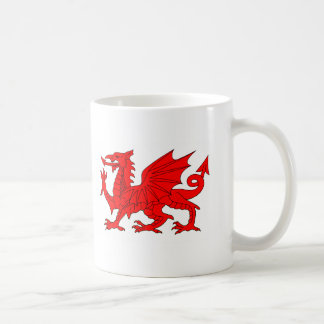 Welsh Dragon Basic White Mug