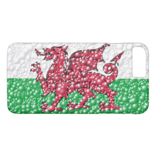 Welsh Dragon Bubble Texture Flag iPhone 8 Plus/7 Plus Case