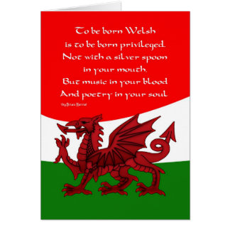 Welsh Dragon Card - Poem by Brian Harris