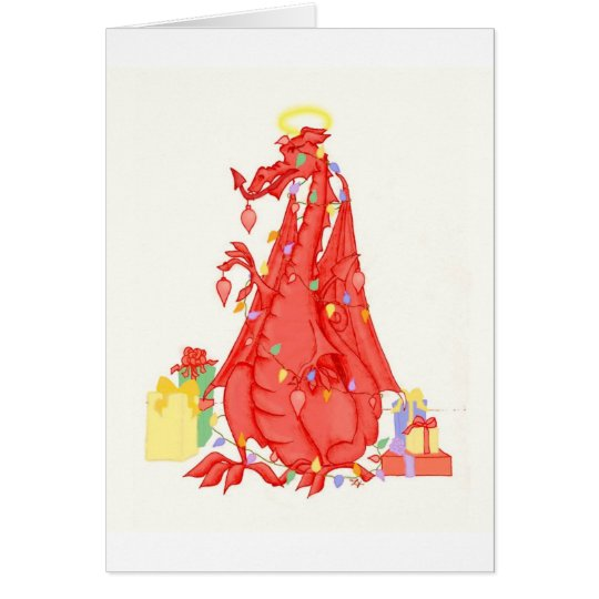 Welsh Dragon Christmas Card - Welsh