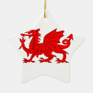 Welsh Dragon Christmas Ornament
