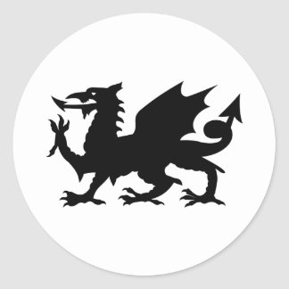 Welsh Dragon Classic Round Sticker