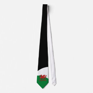 Welsh Dragon Cymru Tie Green Red White Wales