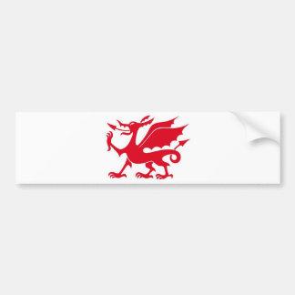 Welsh dragon design bumper sticker