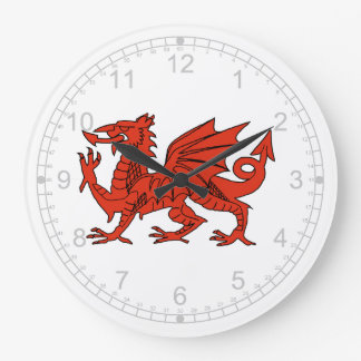 Welsh Dragon Emblem of  Wales Large Clock