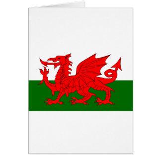 Welsh Dragon Flag Card